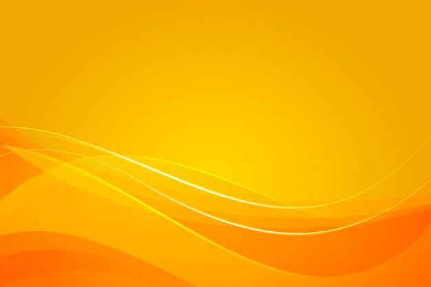 Gele achtergrond met dynamische abstracte vormen Gratis Vector