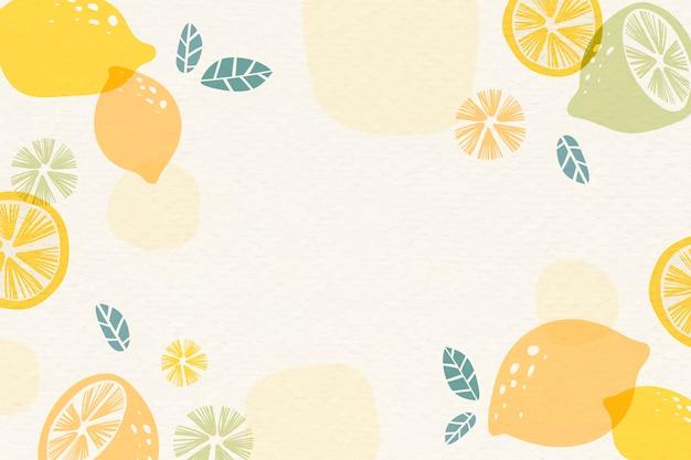 Gele citroenachtergrond Gratis Vector