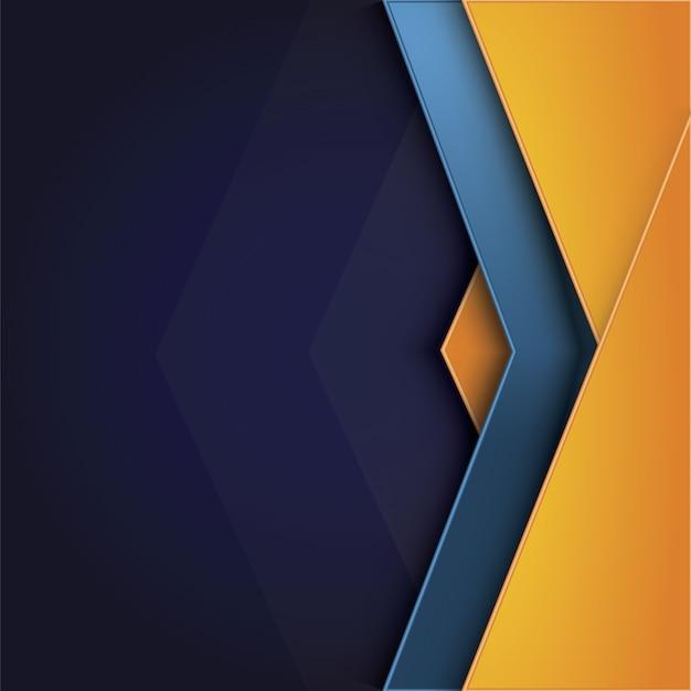 Gele en blauwe achtergrond Gratis Vector