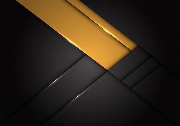 Gele etiket overlapping op donkergrijze metaalachtergrond. Premium Vector