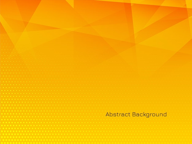Gele kleur moderne veelhoekige achtergrond Gratis Vector