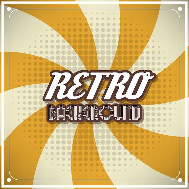 Gele retro achtergrond Gratis Vector