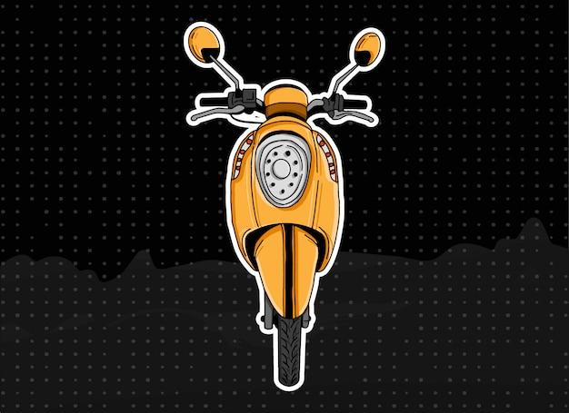 Gele scoopy scooter Premium Vector