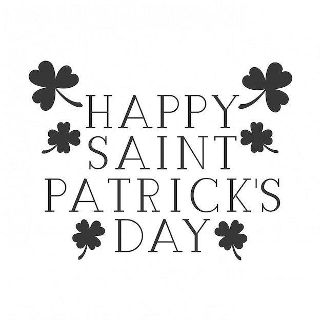 Gelukkig de dagetiket geïsoleerd pictogram van heilige Patrick `s Premium Vector