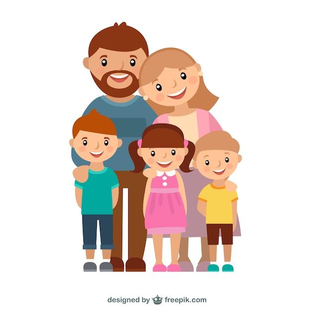 Gelukkig gezin Gratis Vector