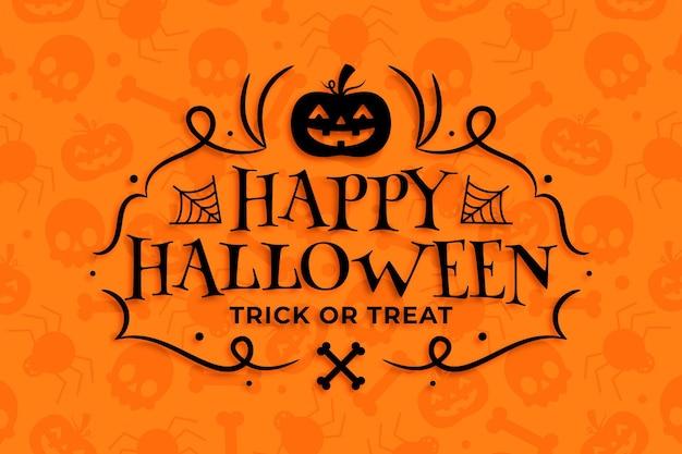 Gelukkig halloween behangontwerp Gratis Vector