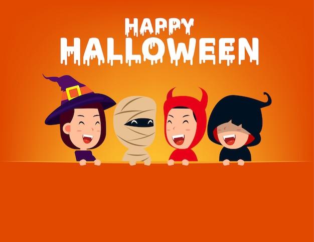 Gelukkig halloween-feest Premium Vector