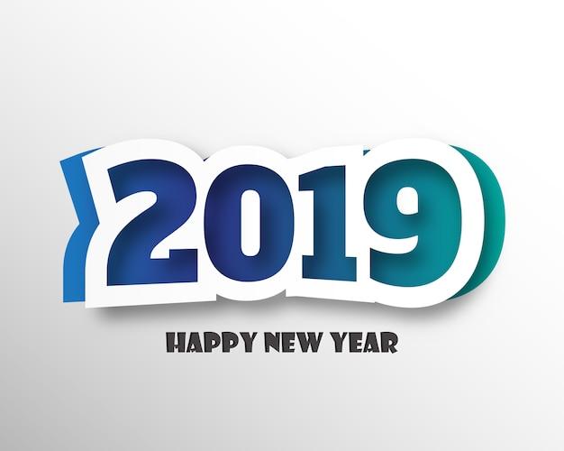 Gelukkig nieuw 2019 jaar Premium Vector