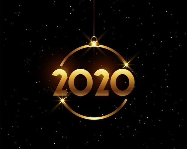 Gelukkig nieuw jaar 2020 wenskaart Gratis Vector