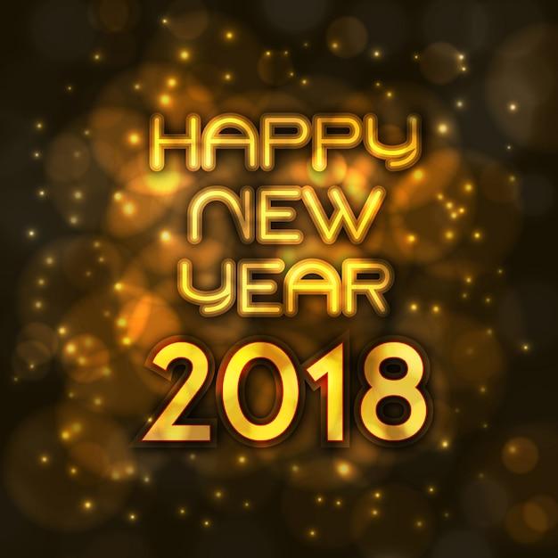 Gelukkig nieuwjaar 2018 elegante koninklijke achtergrond met gouden bars effect Gratis Vector