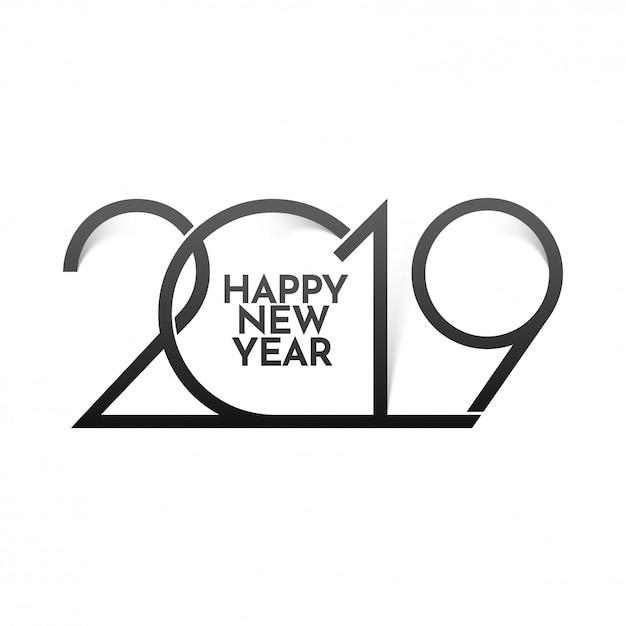 Gelukkig nieuwjaar 2019 achtergrond. Premium Vector