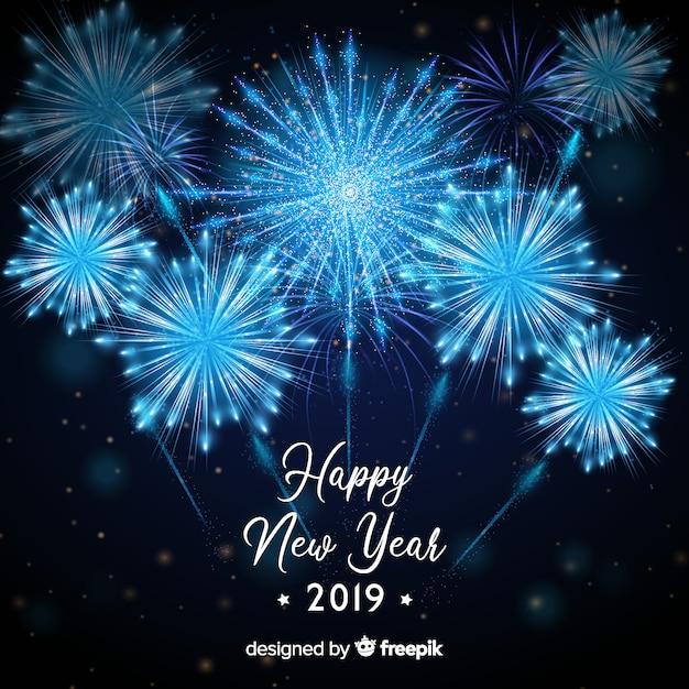 Gelukkig nieuwjaar 2019 achtergrond Gratis Vector