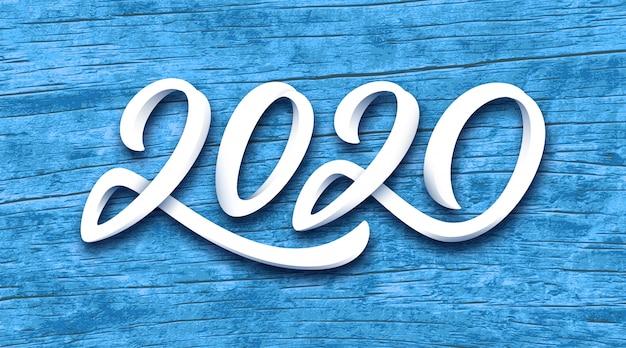 Gelukkig nieuwjaar 2020 vector wenskaart Premium Vector