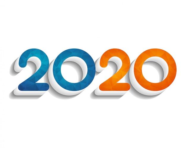 Gelukkig nieuwjaar 2020. wenskaart. abstract. . Premium Vector