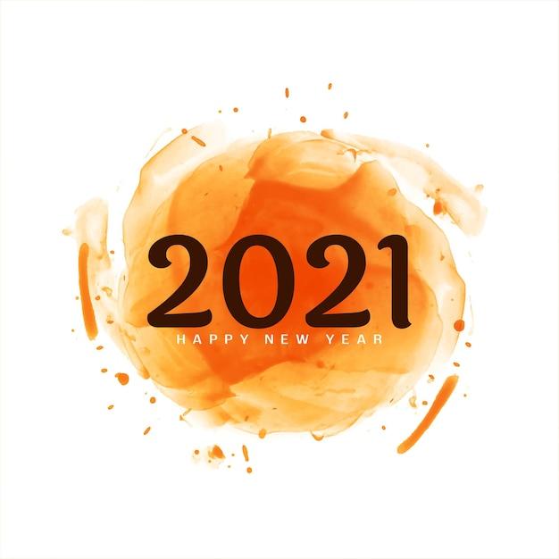 Gelukkig nieuwjaar 2021 groet modern Gratis Vector