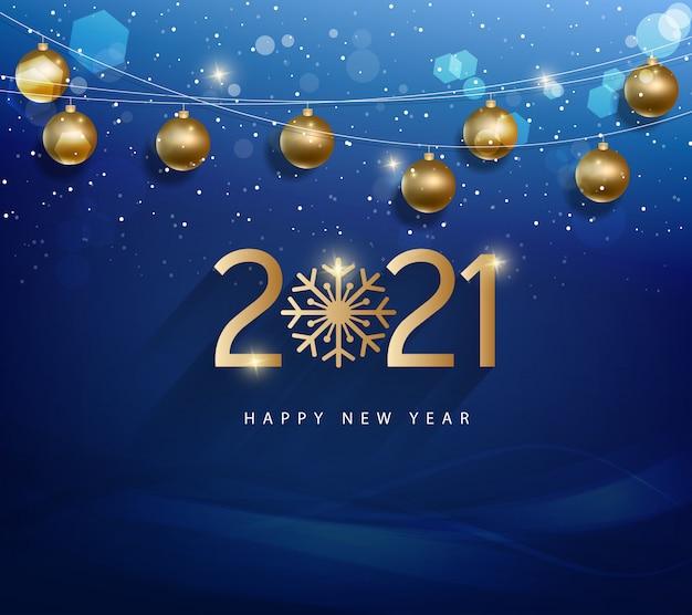 Gelukkig nieuwjaar 2021. prettige kerstdagen en gelukkig nieuwjaarsvakantie Premium Vector