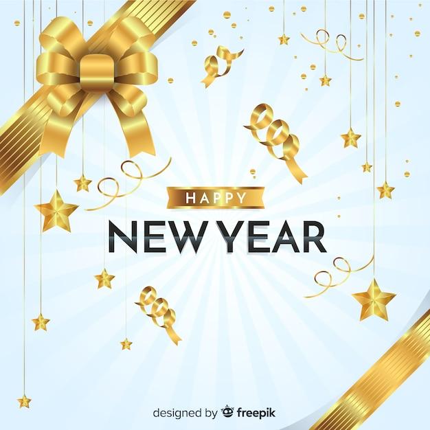 Gelukkig nieuwjaar achtergrond Gratis Vector
