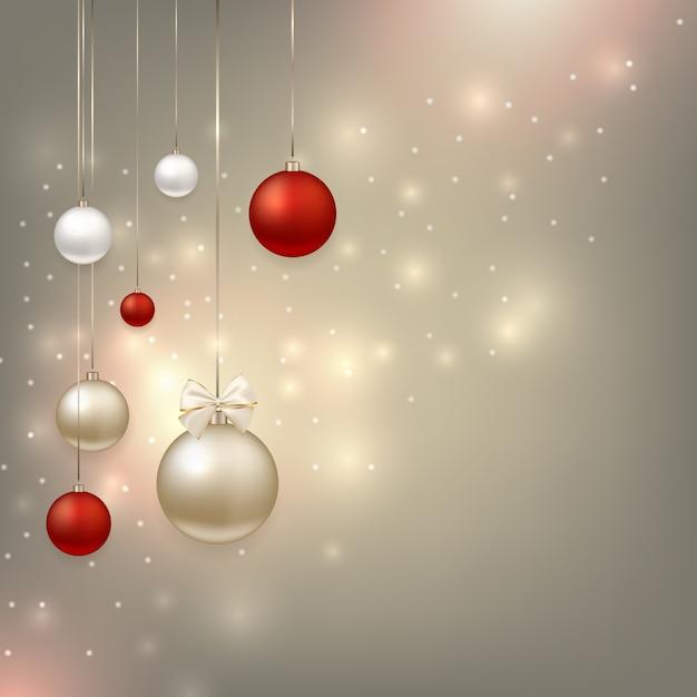 Gelukkig nieuwjaar en kerstmis achtergrond Premium Vector