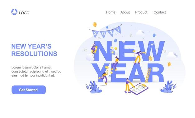 Gelukkig nieuwjaar illustratie Premium Vector