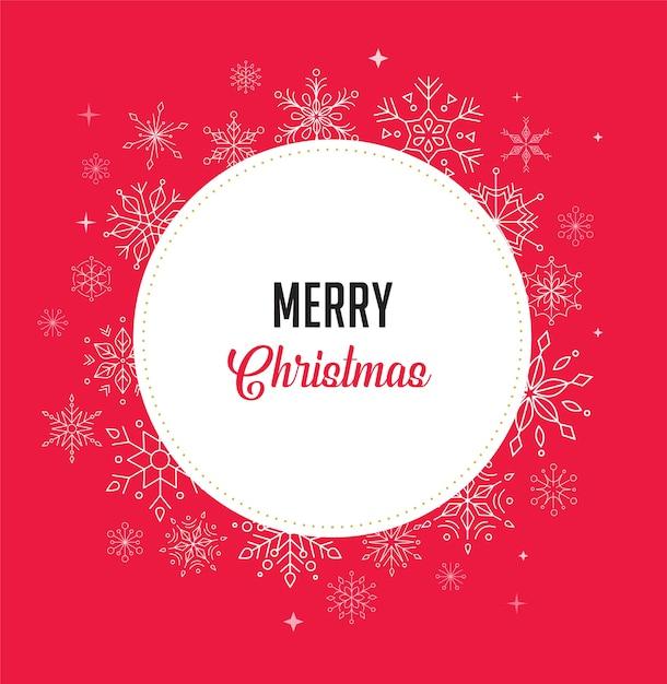 Gelukkig nieuwjaar, merry christmas-achtergrond met schoon modern ontwerp van geometrische sneeuwvlokken Premium Vector