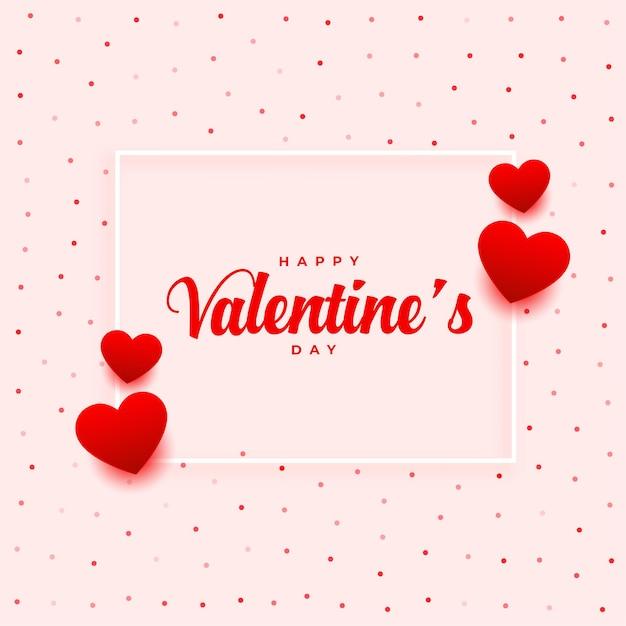 Gelukkig valentijnsdag romantisch groetontwerp Gratis Vector
