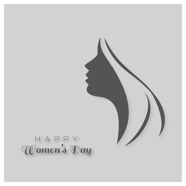 Gelukkig vrouwendag wenskaart gift card op met het ontwerp van een vrouwen gezicht en de tekst 8 maart internatinoal vrouwen dag Gratis Vector