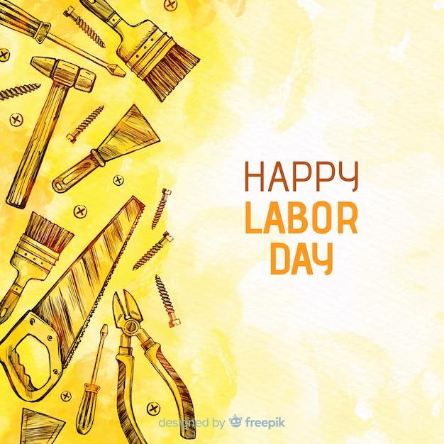 Gelukkige dag van de arbeid Gratis Vector