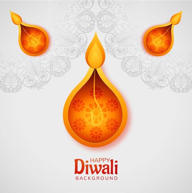 Gelukkige diwali festival kaart achtergrond Gratis Vector