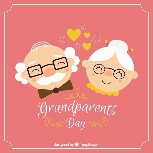 Gelukkige grootouders achtergrond Gratis Vector
