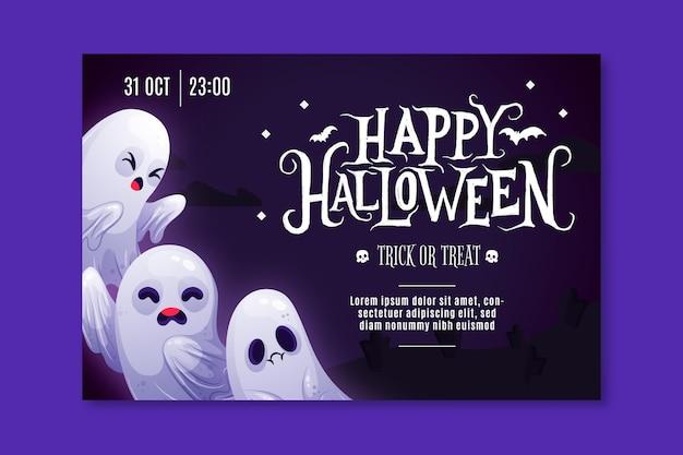 Gelukkige halloween-banner Gratis Vector