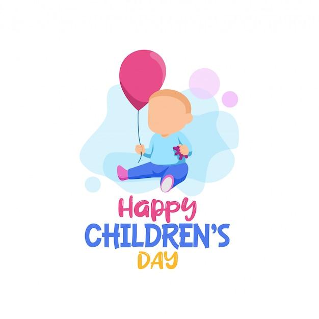 Gelukkige kinderen dag logo vector Premium Vector