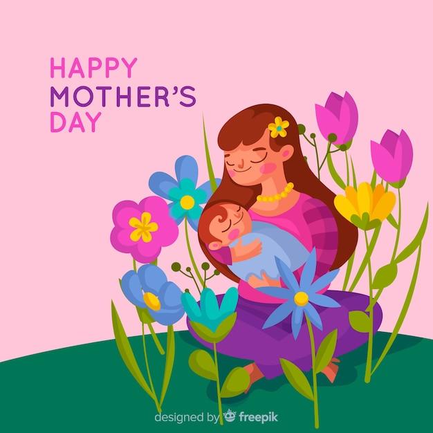 Gelukkige moederdag Gratis Vector
