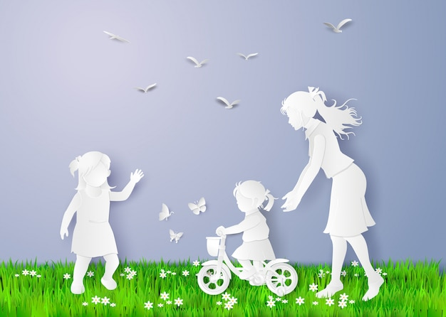 Gelukkige moederdag Premium Vector