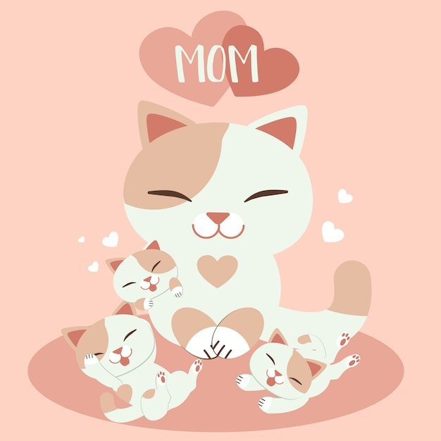 Gelukkige moederdagkaart Premium Vector