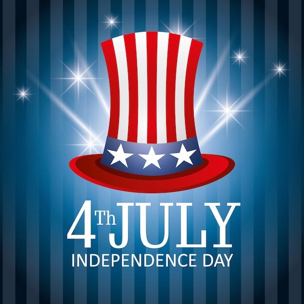 Gelukkige onafhankelijkheidsdag 4 juli-viering van de vs Gratis Vector