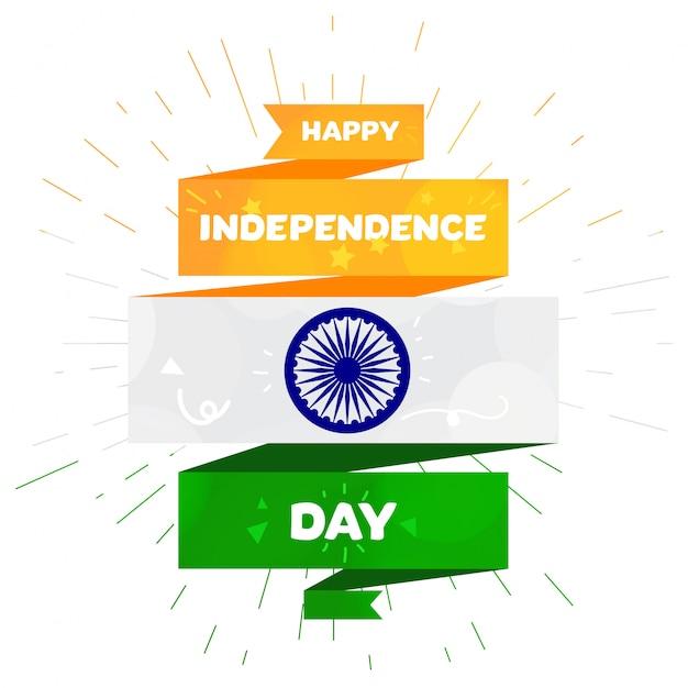 Gelukkige onafhankelijkheidsdag Premium Vector