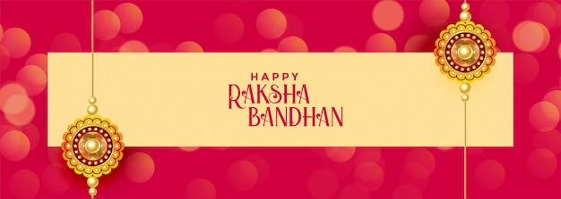 Gelukkige raksha bandhan festivalbanner Gratis Vector