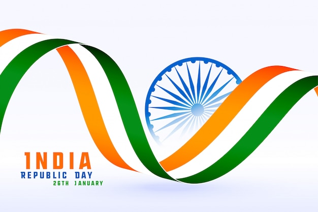 Gelukkige republiekdag van het conceptenachtergrond van india Gratis Vector