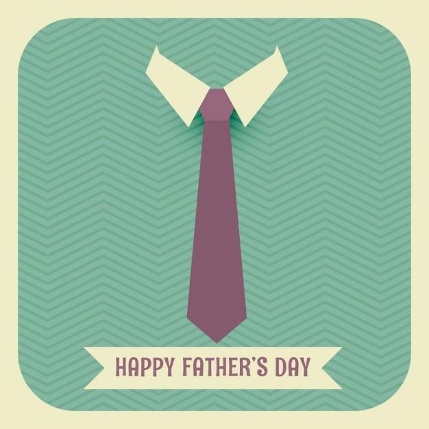 Gelukkige vaders dag met stropdas en kraag Gratis Vector