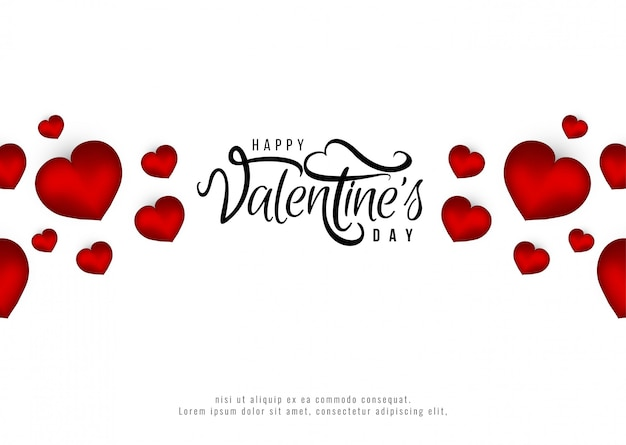 Gelukkige valentijnsdag romantische achtergrond Gratis Vector