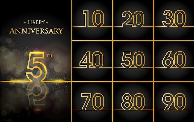 Gelukkige verjaardag achtergrond met gouden regels Gratis Vector