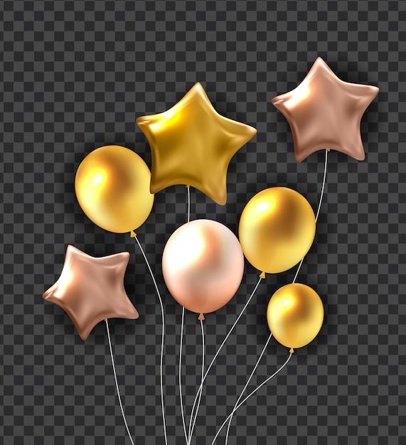 Gelukkige verjaardag ballonnen achtergrond Premium Vector