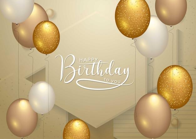 Gelukkige verjaardag viering typografie Premium Vector