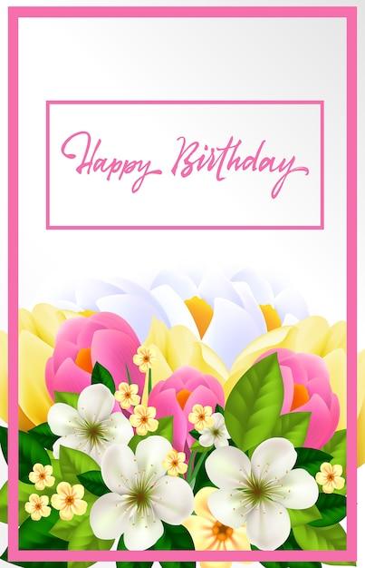 verjaardagskaart vrouw gratis Gelukkige verjaardagskaart voor vrouw Vector | Gratis Download verjaardagskaart vrouw gratis