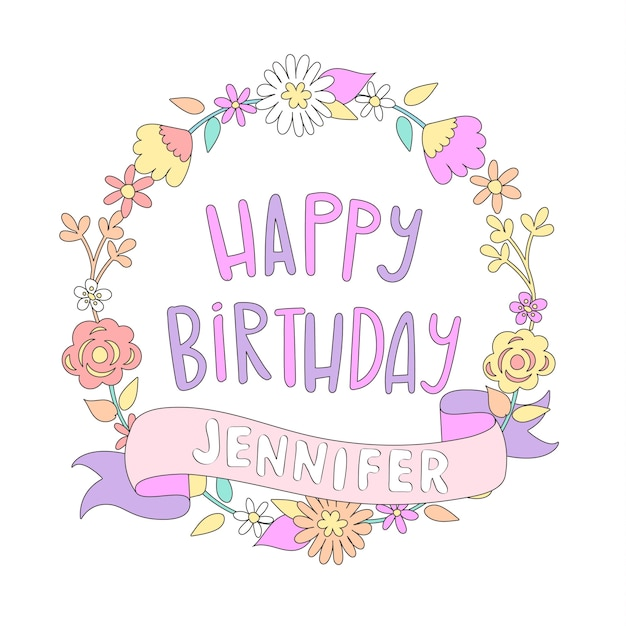 Gelukkige verjaardagskaart. Premium Vector