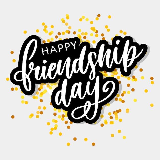 Gelukkige vriendschap dag Premium Vector
