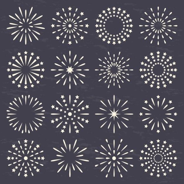 Gemaakt cirkels met lijnen en stippen Gratis Vector