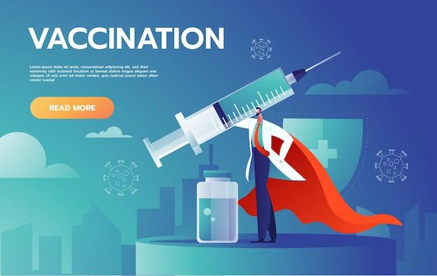 Gemaskerde dokter vecht tegen coronavirus-infectie. Gratis Vector