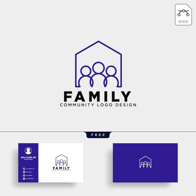 Gemeenschap menselijke logo sjabloon vector pictogram geïsoleerd Premium Vector