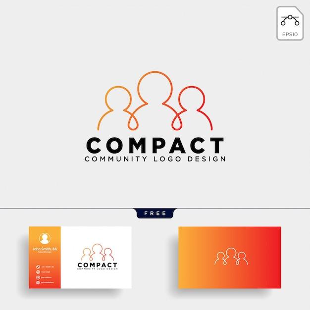 Gemeenschap menselijke logo sjabloon Premium Vector